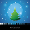 Card with Christmas tree Stock Images