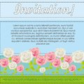 Card with colorful roses Royalty Free Stock Photos