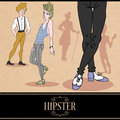 Card design with hipster boys pretty Stock Image