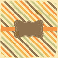 Card design vintage label on stripe background grunge Stock Images