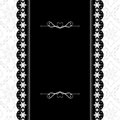 Card design vintage ornate frame Royalty Free Stock Images