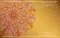 Card with fantasy ornament luxury gold background Royalty Free Stock Image