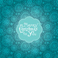 Card with flowers and christmas lettering beautiful design elements over seamless background Stock Photos