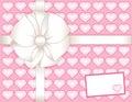 Card gift hearts pink present 库存图片