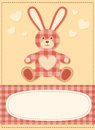 Card with the hare for baby shower 3 Stock Photos