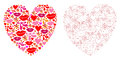 Card with heart valentine stock photo Stock Image