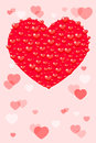 Card with hearts happy valentines day vector Stock Photos