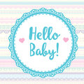 Card hello baby for scrapbooking album Royalty Free Stock Photo
