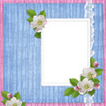Card for the holiday  with flowers Royalty Free Stock Images