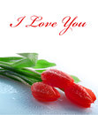 Card i love you postcard greetings from st valentine or just a Stock Photos