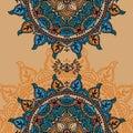 Card with indian magical mandala