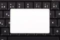 Card on Keyboard Royalty Free Stock Photo