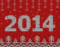 Card of new year with knitted texture christmas jumper fragment qualitative vector eps illustration for years day christmas winter Royalty Free Stock Photo