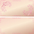 Card pink patterns with corporal on a beautiful background Royalty Free Stock Photo