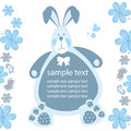 Card with a rabbit for a baby Royalty Free Stock Image