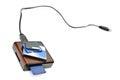Card-reader and flash memory Royalty Free Stock Photo