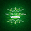 Card for st patricks day with text and many shamr shamrocks Royalty Free Stock Images
