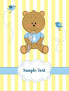 Card with teddy bear and bunny Royalty Free Stock Photography