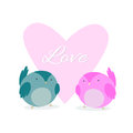 Card to Valentine's Day with hearts. Love Birds. Royalty Free Stock Photo