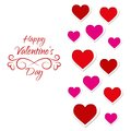 Card for valentines day with lots of hearts and wedding Royalty Free Stock Photos