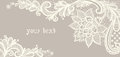 Card with a white lace floral background vector greeting this is file of eps format Stock Image