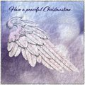 Christmas Card with Angel Wing