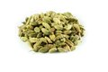 Cardamom pile of whole on white background Stock Photo