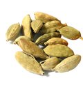 Cardamom seeds over white background Royalty Free Stock Photography