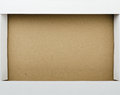 Cardboard box close up of frame Royalty Free Stock Photos