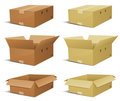 Cardboard Box Delivery Set Stock Images