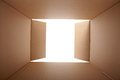 Cardboard box inside view open Royalty Free Stock Photography