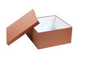 Cardboard box open brown gift packaging for shopping and gifts Royalty Free Stock Image
