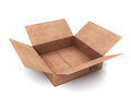 Cardboard box open isolated on a white background Royalty Free Stock Images