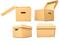 Cardboard Box For Package Object