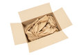 Cardboard box with packaging Royalty Free Stock Photo