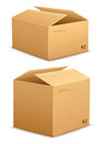 Cardboard box for packing Stock Image