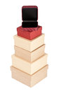 Cardboard box tower Royalty Free Stock Photos