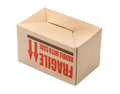 Cardboard box upside down over white background Royalty Free Stock Photography