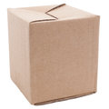 Cardboard box on a white background Royalty Free Stock Photo