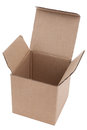 Cardboard box on a white background Royalty Free Stock Images