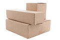 Cardboard box on a white background Royalty Free Stock Photography