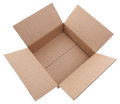 Cardboard box on a white background Stock Images
