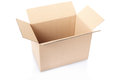 Cardboard box on white clipping path included Royalty Free Stock Photography