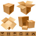 Cardboard boxes. Royalty Free Stock Image