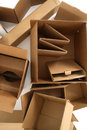 Cardboard boxes, from above Stock Photo