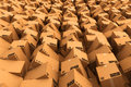 Cardboard boxes. Royalty Free Stock Photo