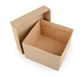 Cardboard boxes isolated on white background Royalty Free Stock Photo