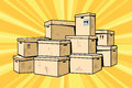 Cardboard boxes for packaging