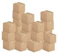Cardboard boxes stack Stock Photo