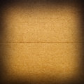 Cardboard closeup of brown texture Stock Photography